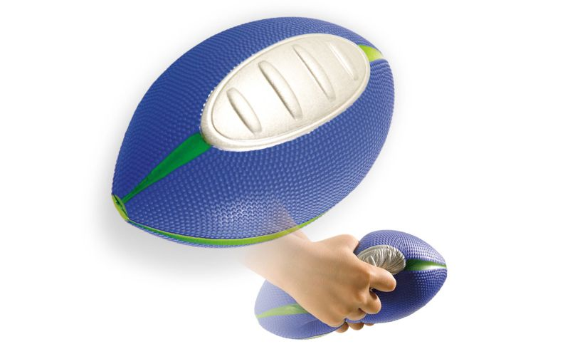 squish football - a great starter football for easy catching
