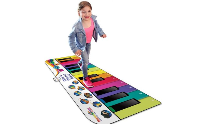 Giant Rainbow Piano mat for walking your music out