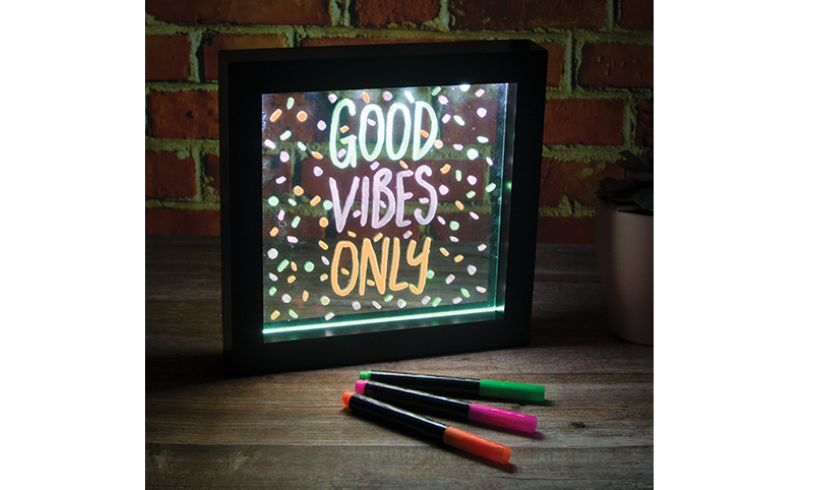 Neon Effect Frame - great gift for 7 year old girl