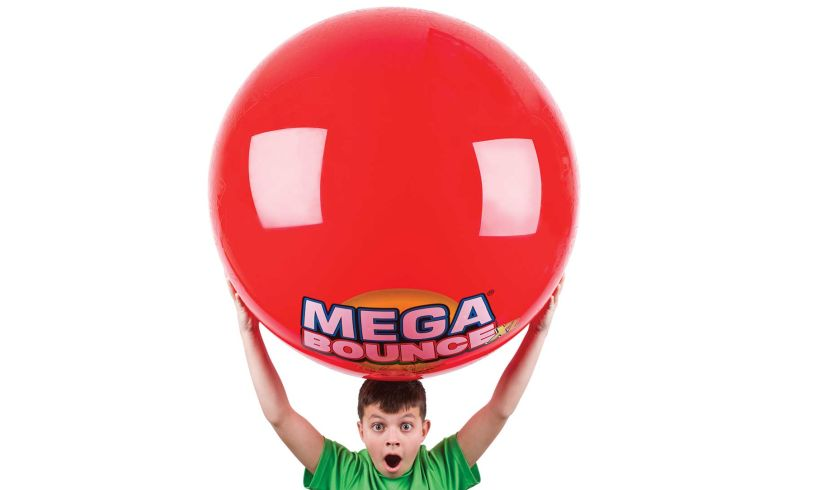 Mega Bounce, the huge ball for kids who love huge things, which is all of them