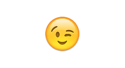 The winky emoji - a classic of human language